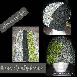Crochet Men's chunky beanie